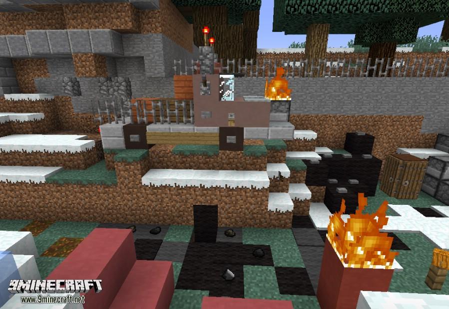 Новогодняя карта для Майнкрафт мини игра