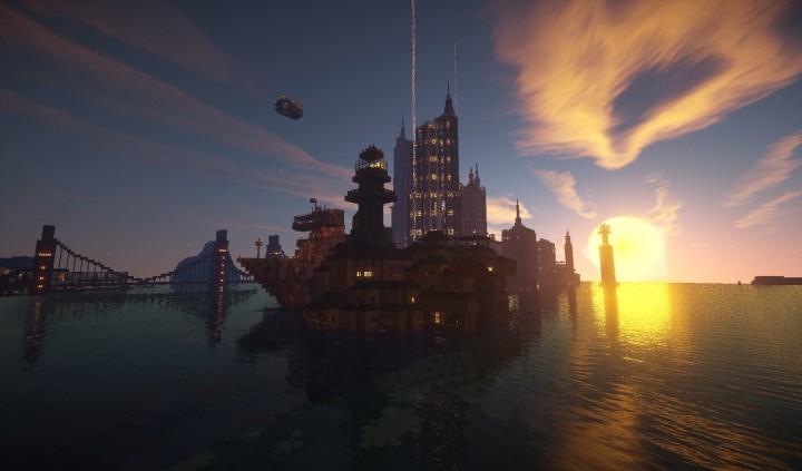 Современный город на Майнкрафт