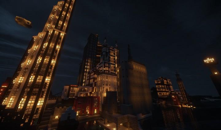 Карта город на Minecraft