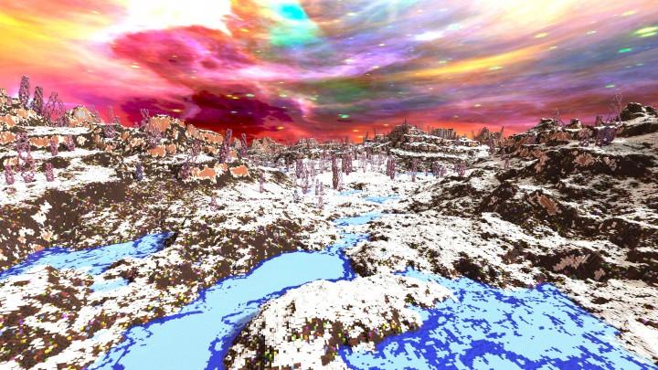Майнкрафт Снежный мир карта