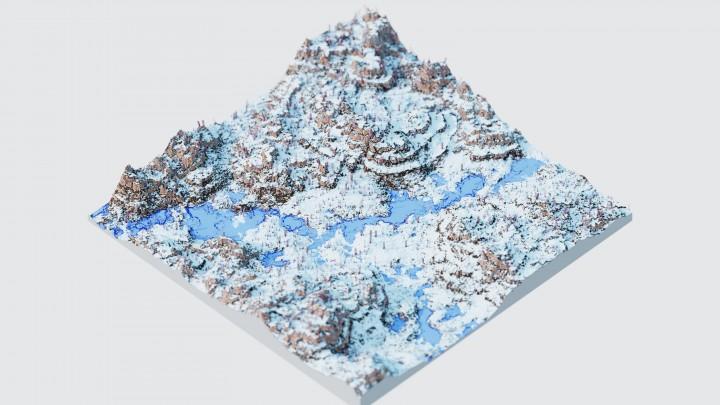 карта с большими размерами на Майнкрафт