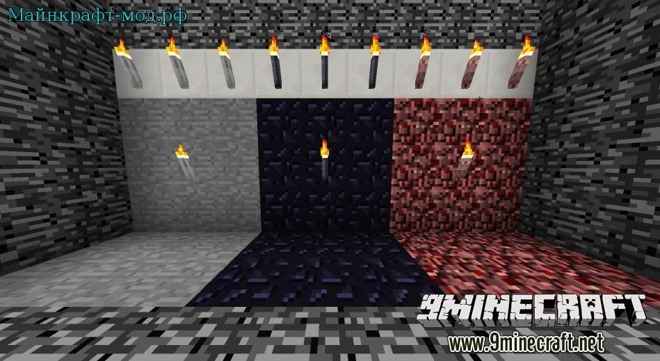 яркие факелы в майнкрафт