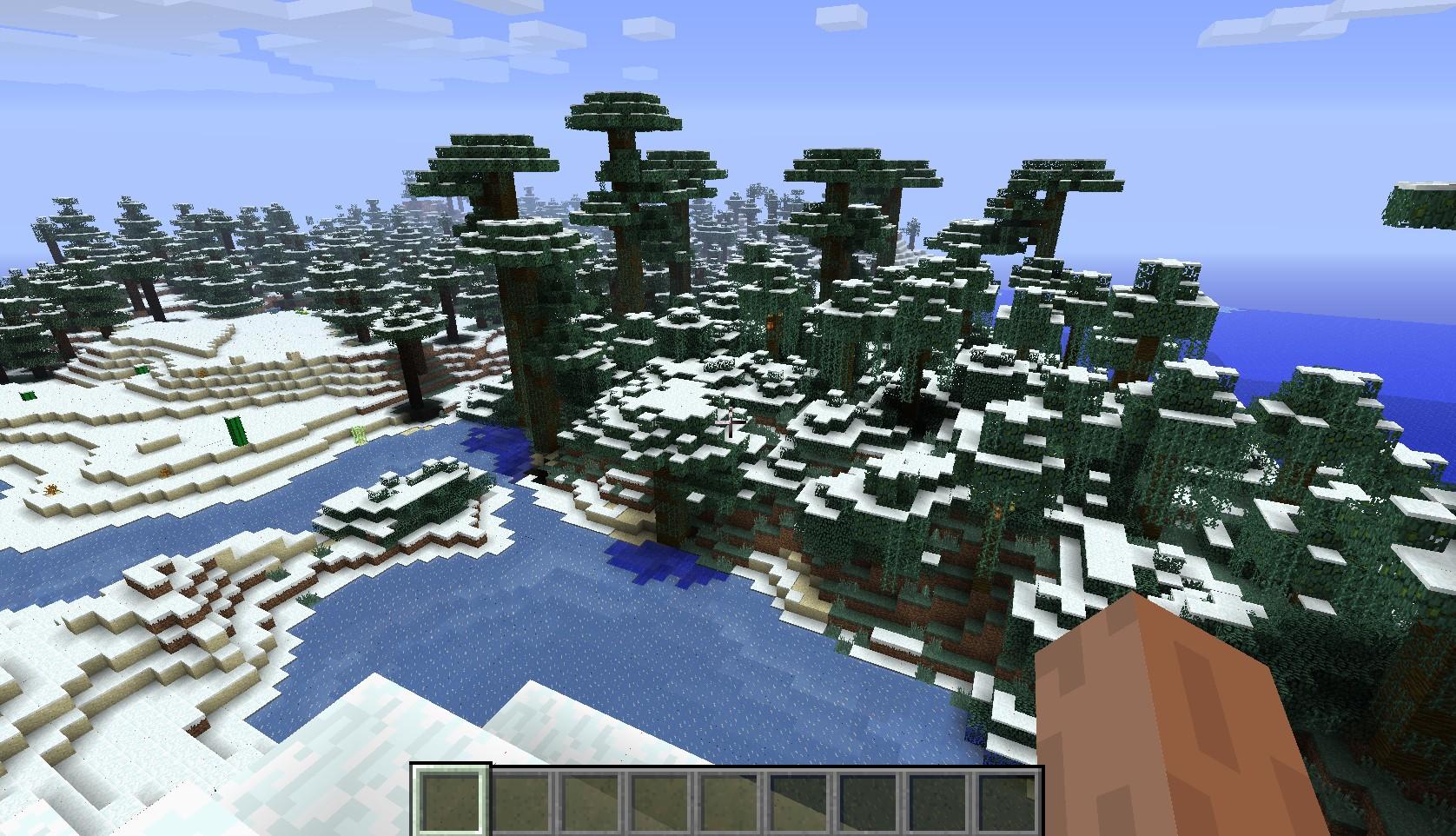 Мод на снежные биомы для Майнкрафт