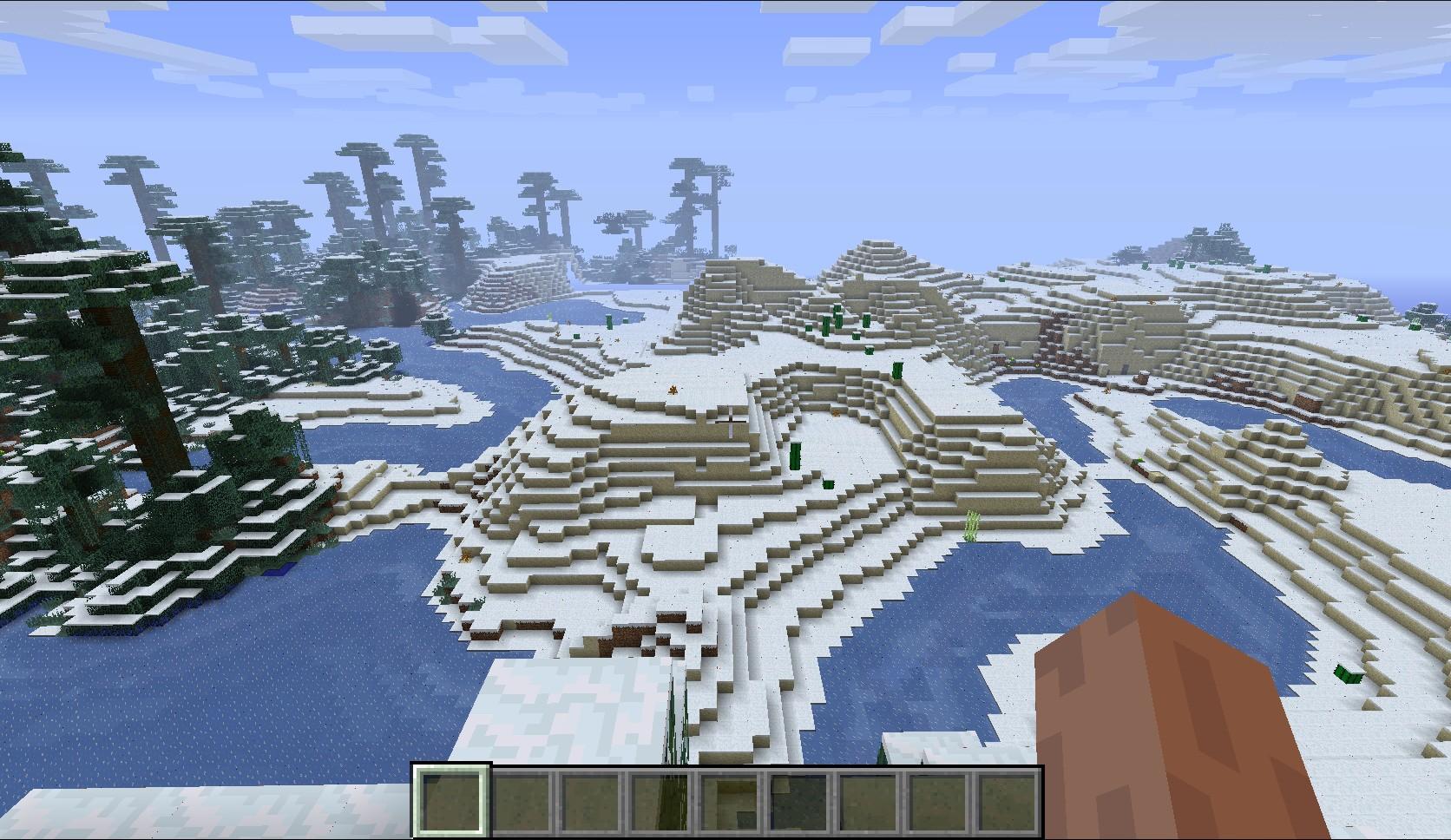 генерация снега в Майнкрафт Мод