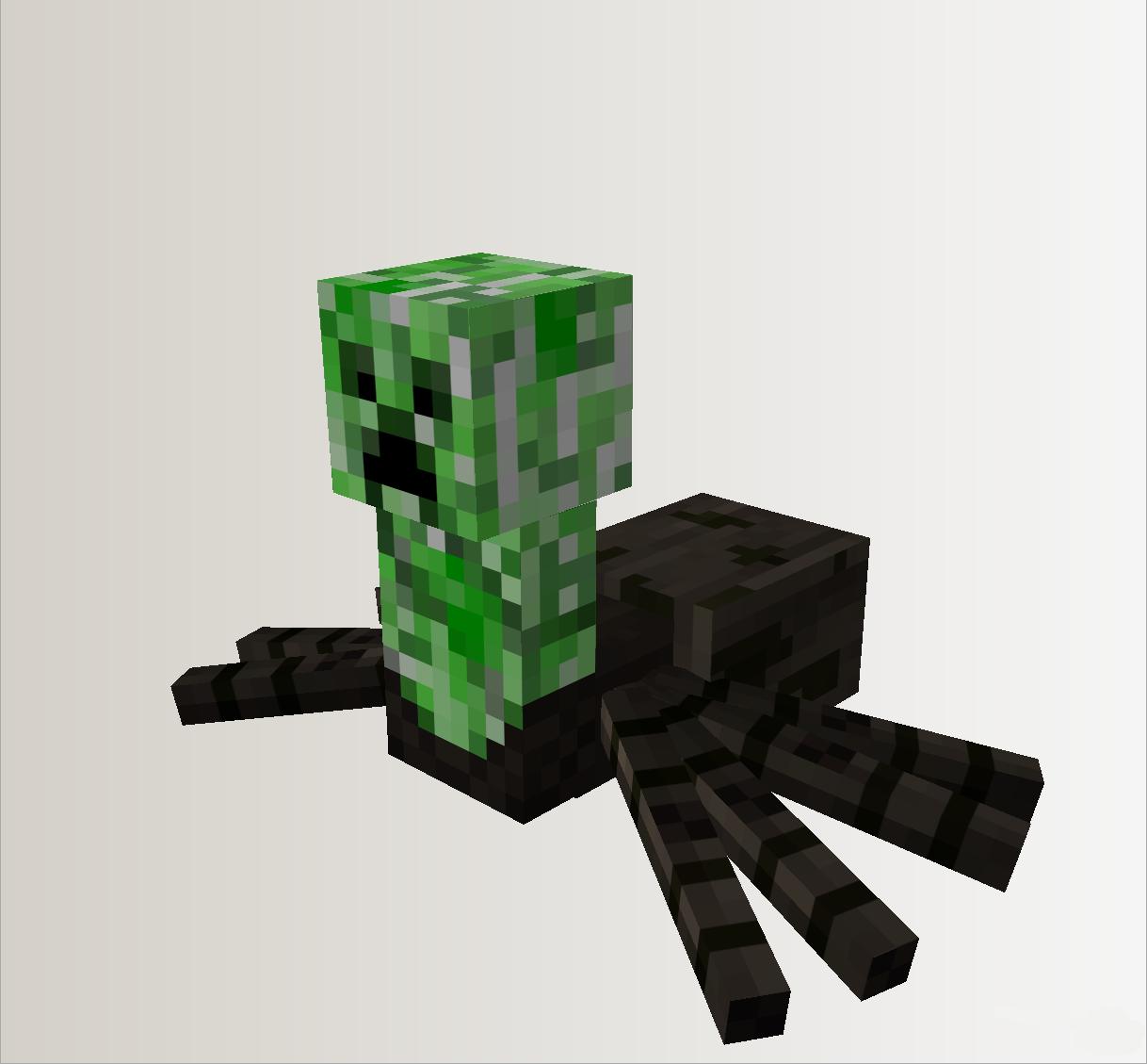 Крипер паук моб на Майнкрафт