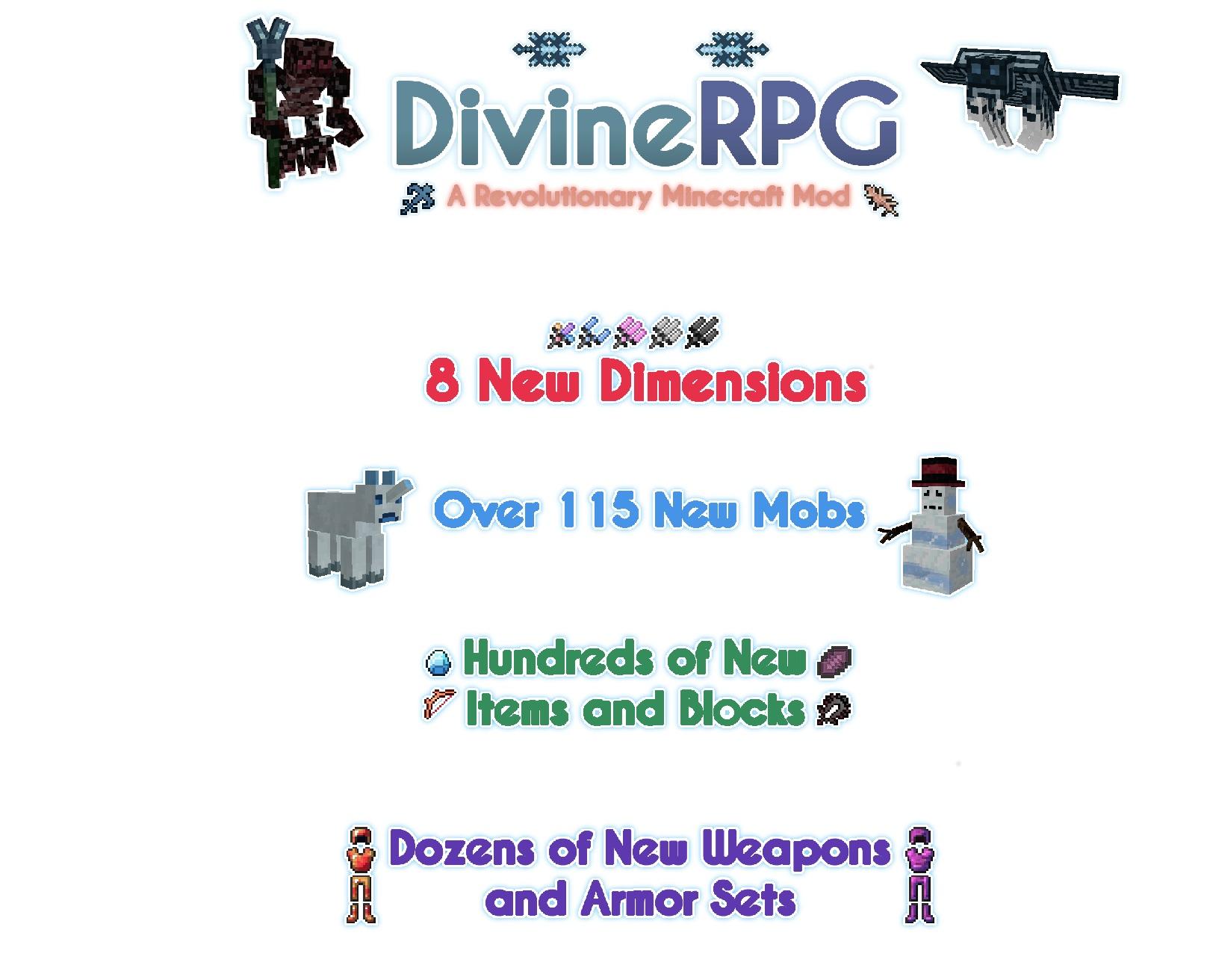 Мод Divine RPG для Minecraft