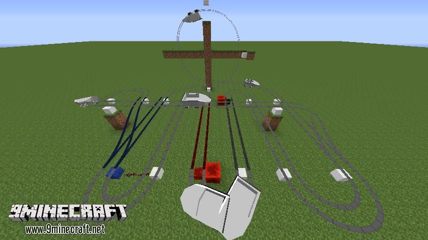 Minecraft американские горки