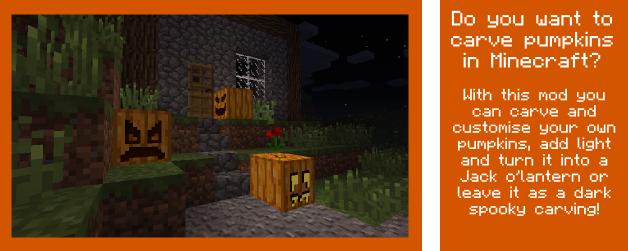 Мод на хеллоуин для Майнкрафт