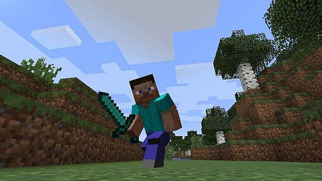 Реалистичная анимация мобов и игрока для Minecraft