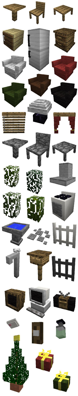 Майнкрафт мод на мебель