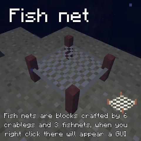 Мод на рыб для Майнкрафт