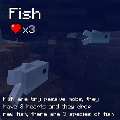 Жители подводного мира для Майнкрафт