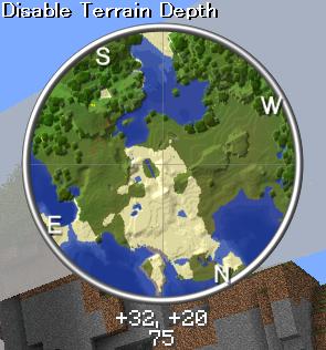 Удобная мини карта на Minecraft