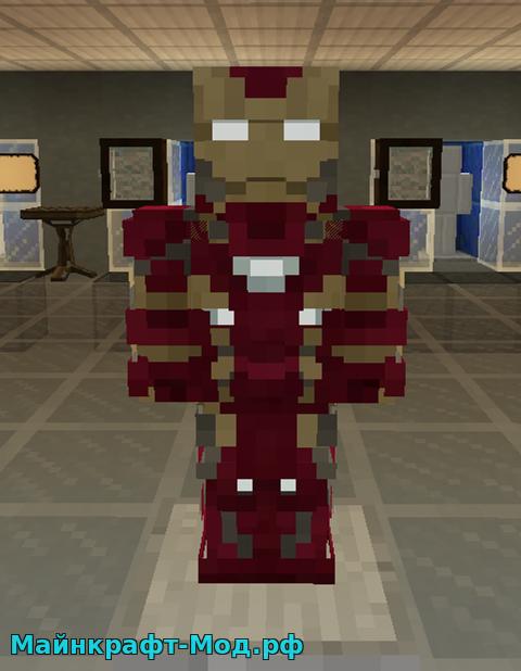 Железный Человек мод на Майнкрафт