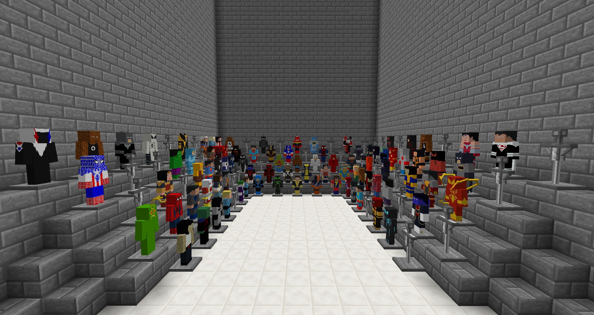 Супер герои для Minecraft