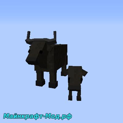 Мод на быков для Майнкрафт