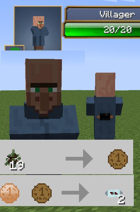 Minecraft мод на продажу вещей у жителей