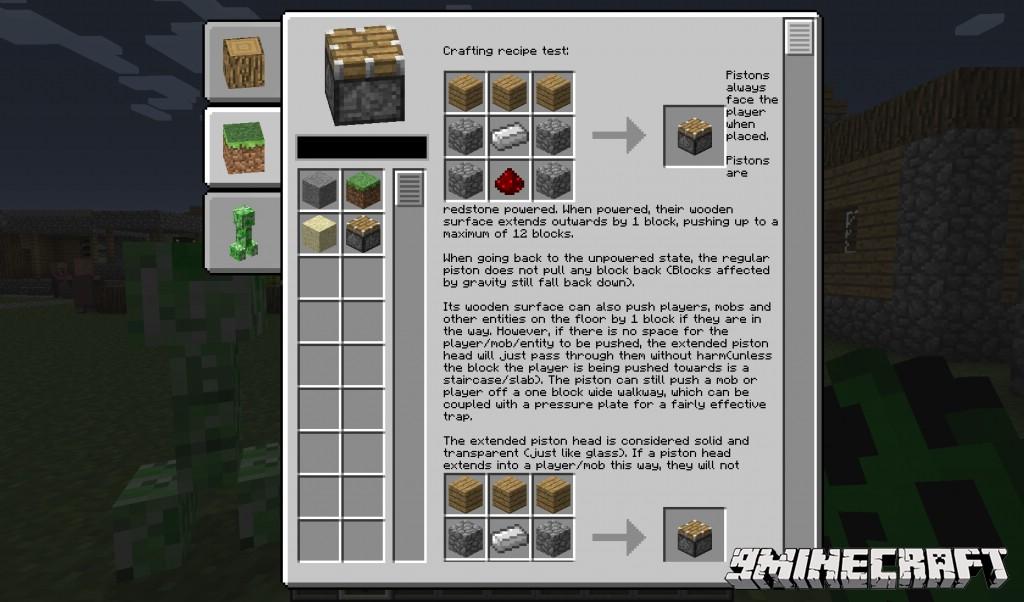 Информация о предмете в Майнкрафт