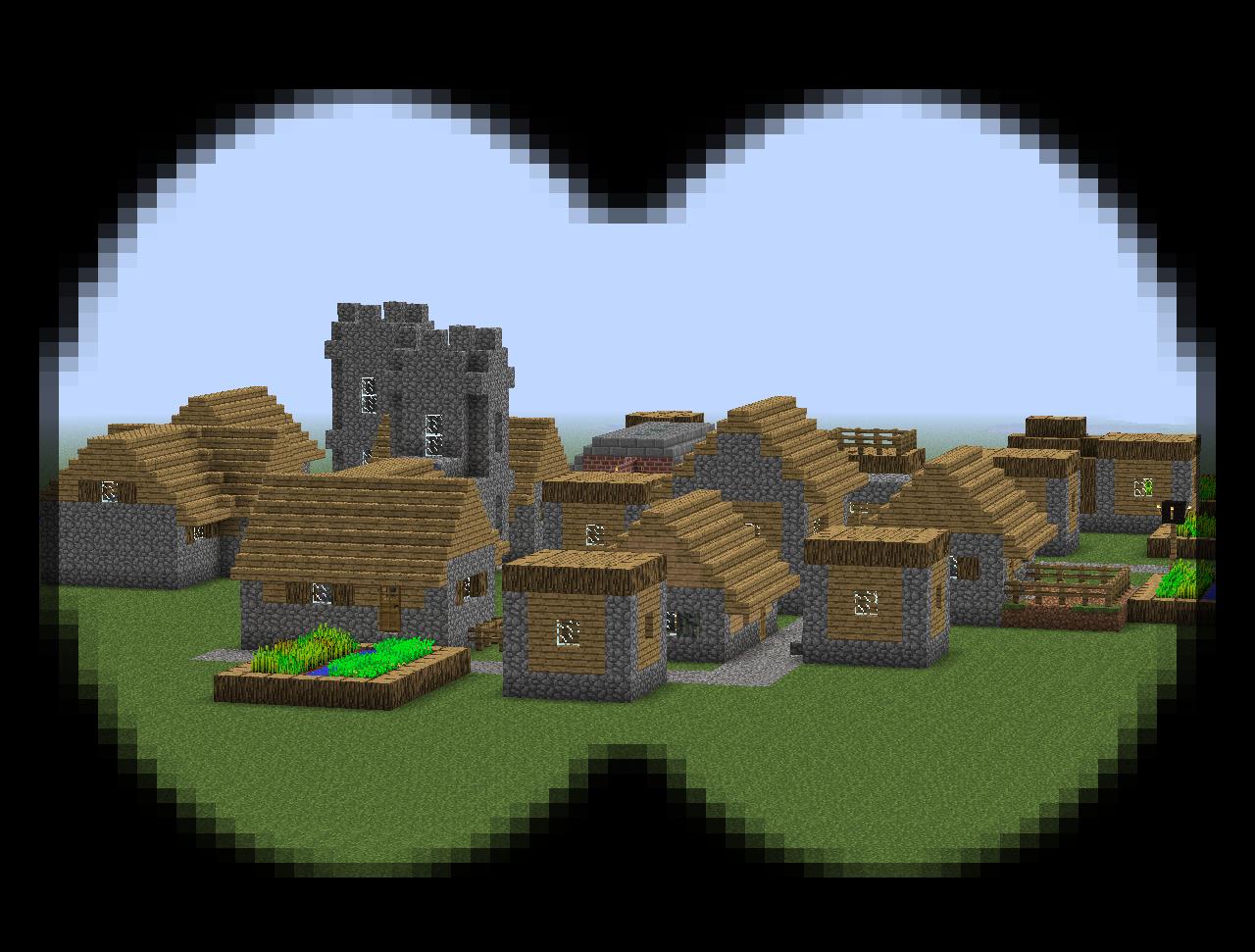 Мод на бинокль для Minecraft