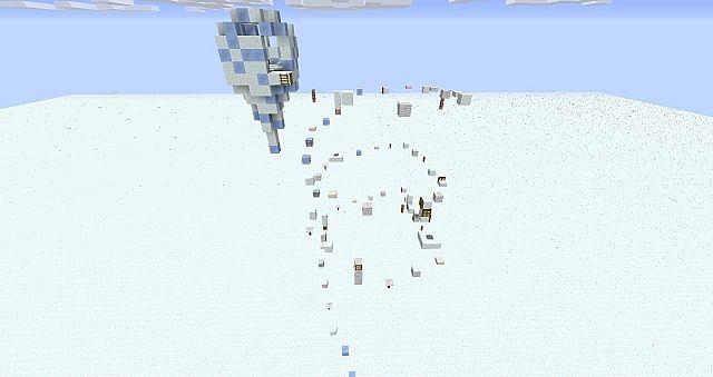 Minecraft паркур карта зима