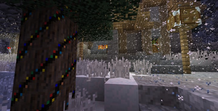 Снег на Майнкрафт