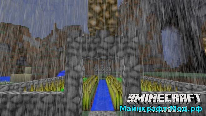 Реалистичный дождь для Майнкрафт
