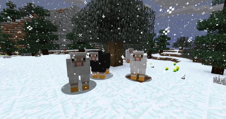 Новогодний ресурспак на Minecraft